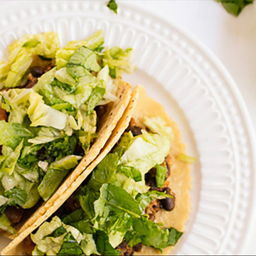 Small quinoa black bean tacos recipe